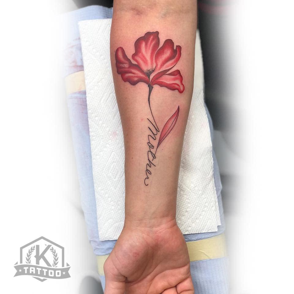 lettering_mother_flower