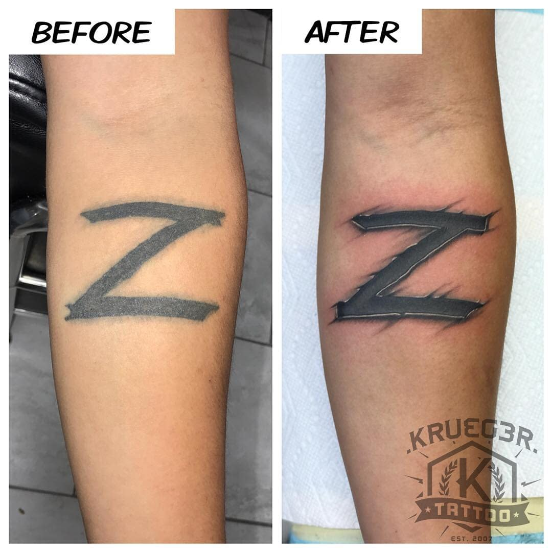 Reworked this tattoo for Zorro today!! Thanks man!! Glad that I could breathe some new life into this for you!! #kruegertattoo #kruegertattoostudio #bestinthechippewavalley2016 #zorro #tattoo #tattoos #guyswithtattoos