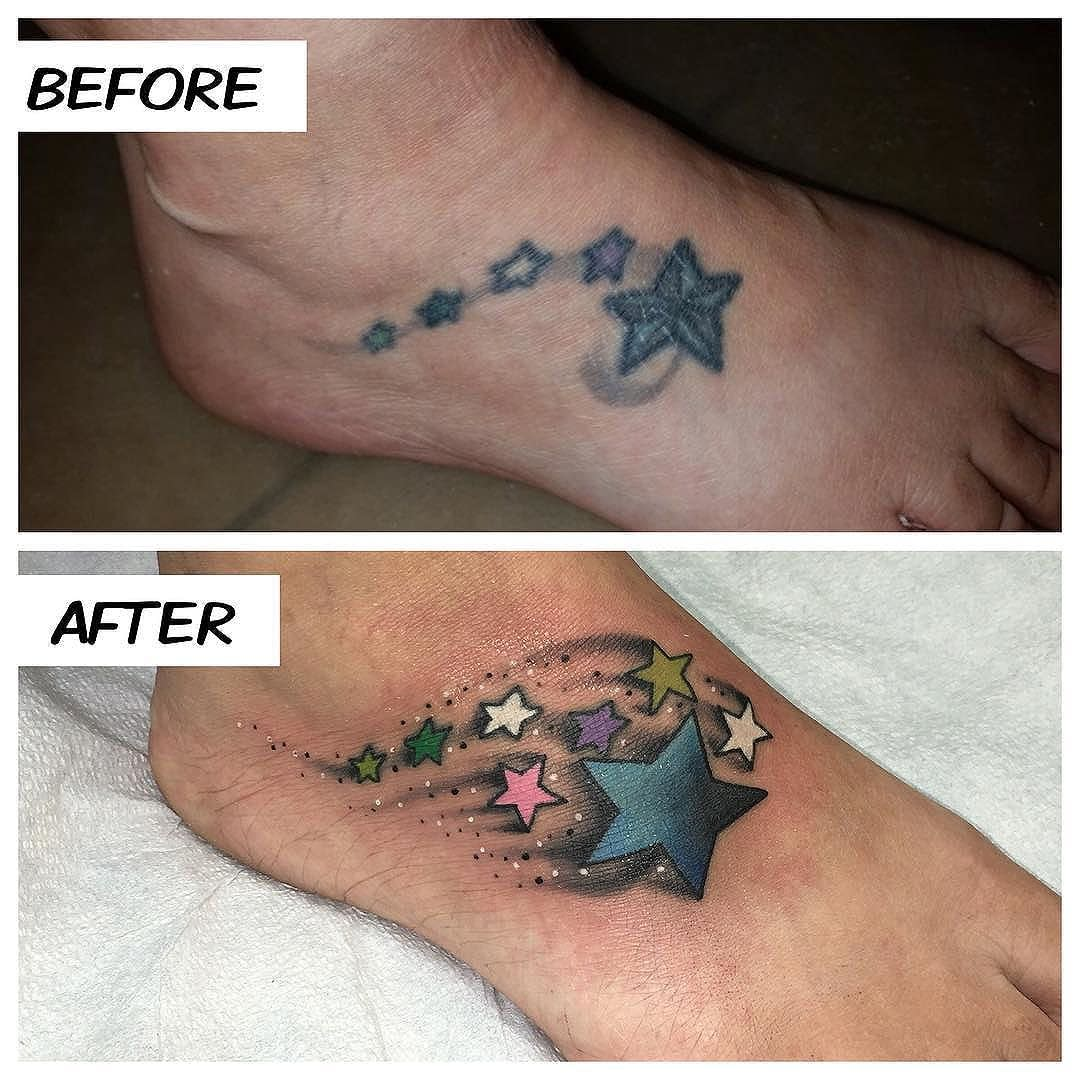 A little bit of foot rework on Heidi today!! Thanks for coming in!! #kruegertattoo #2189eastridgecenter #7155141263 #eauclaire #wi #cheyennetattooequipment #fusion_inks #tattoo #tattoos #apexpred #solaceskateco #the_grind_fitness_factory #carmikecinema #rework