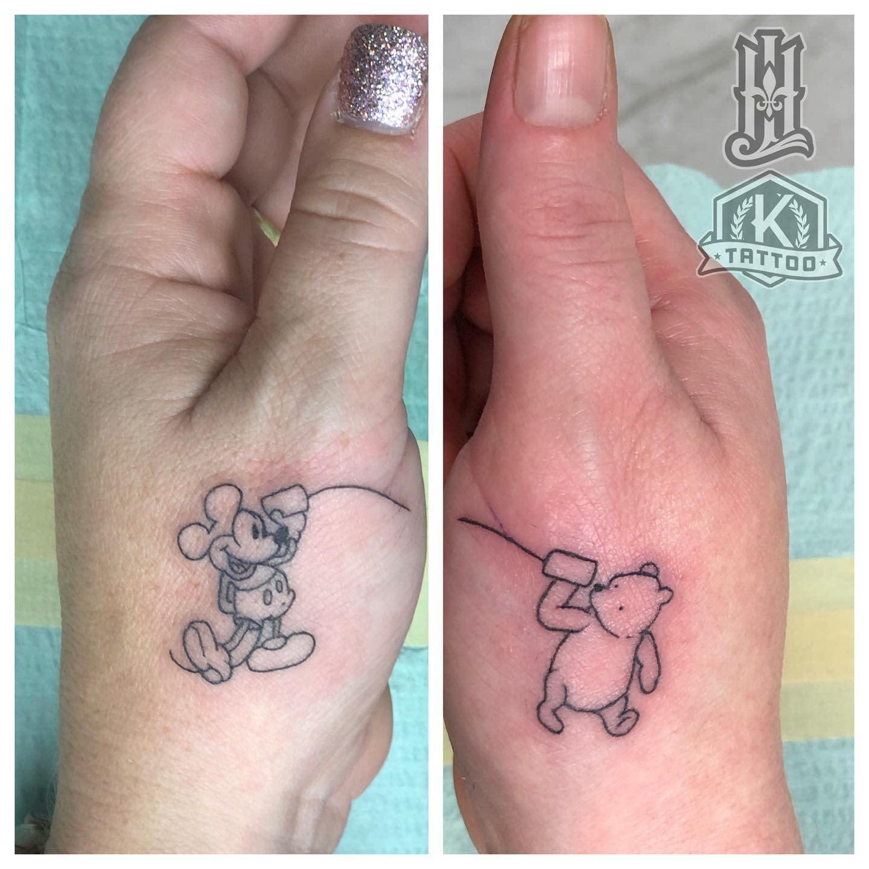 blackandgrey_sister_mickey_pooh