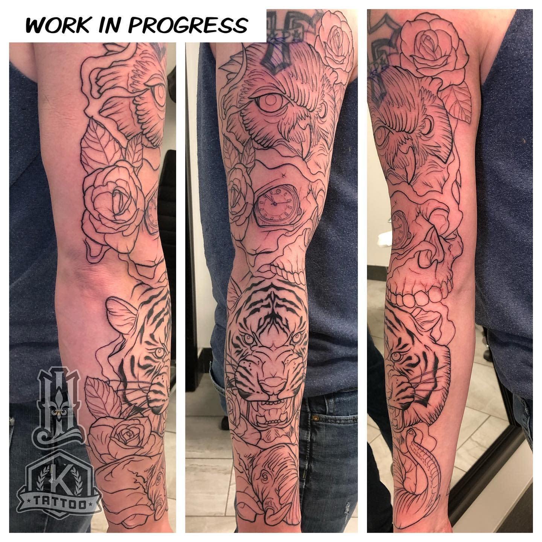 workinprogress_Elephant_tiger_skull_owl